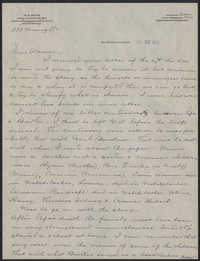 Letters from Warren Hubert Moise to Edwin Warren Moise, July 31, 1933