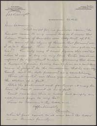 Letter from Warren Hubert Moise to Edwin Warren Moise, November 6, 1933