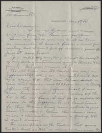 Letter from Warren Hubert Moise to Edwin Warren Moise, August 9, 1934