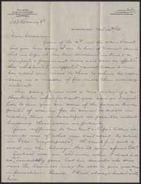 Letter from Warren Hubert Moise to Edwin Warren Moise, November 20, 1933