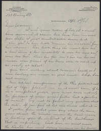 Letters from Warren Hubert Moise to Edwin Warren Moise,  April 3, 1934