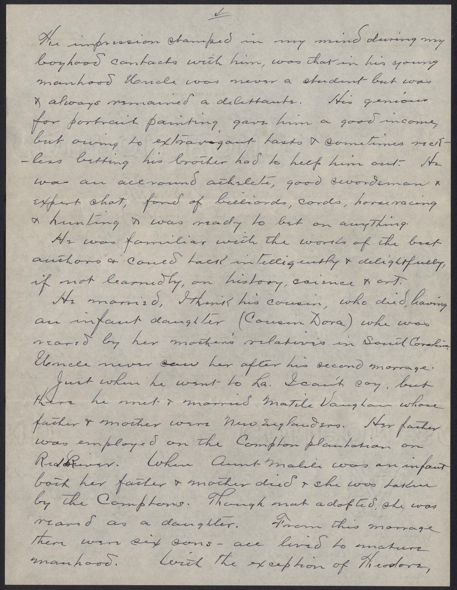 Letters from Warren Hubert Moise to Edwin Warren Moise, Page 4
