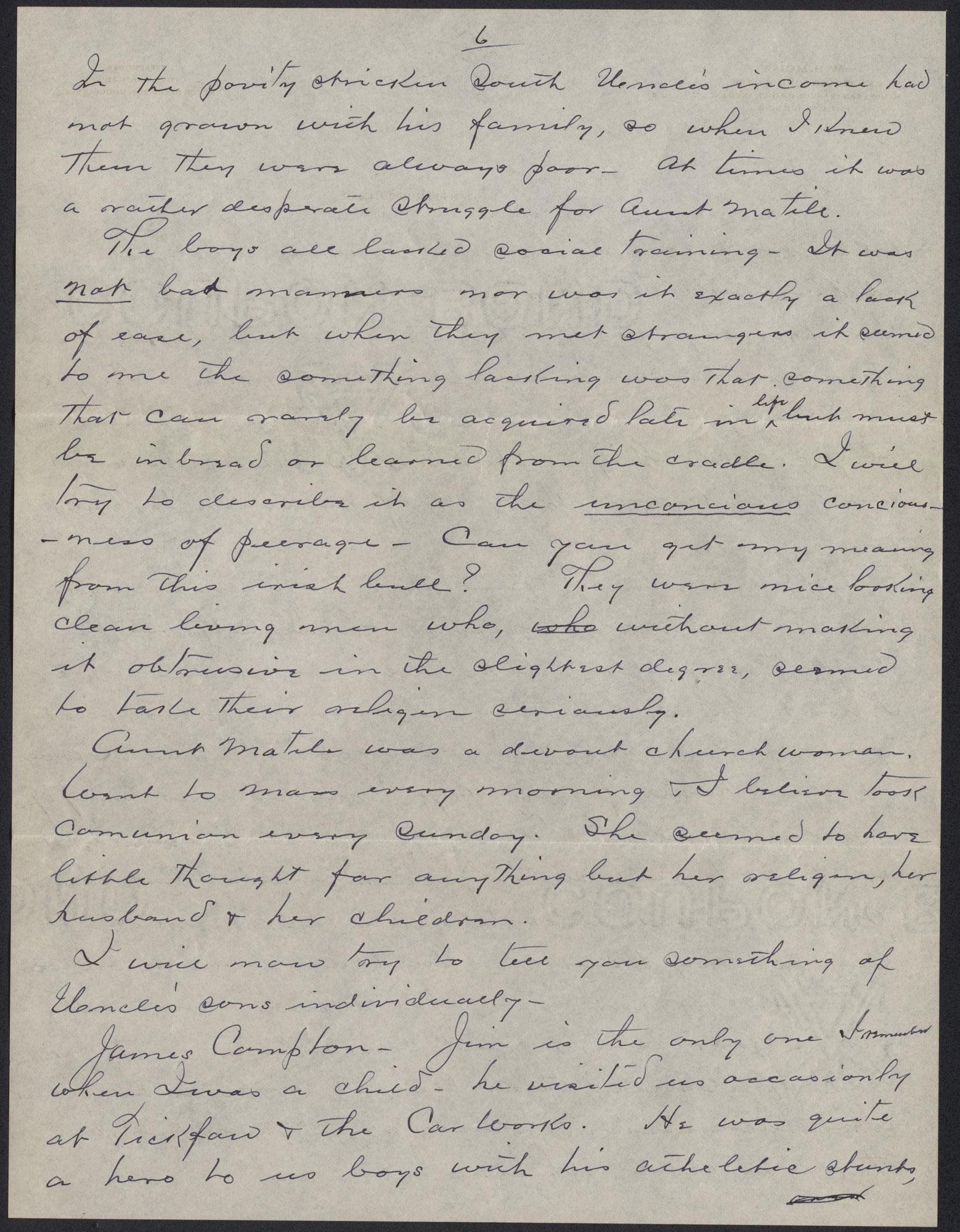 Letters from Warren Hubert Moise to Edwin Warren Moise, Page 6