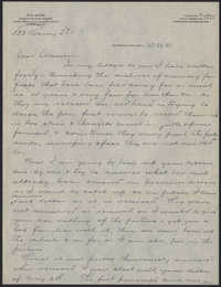 Letters from Warren Hubert Moise to Edwin Warren Moise, October 21, 1933