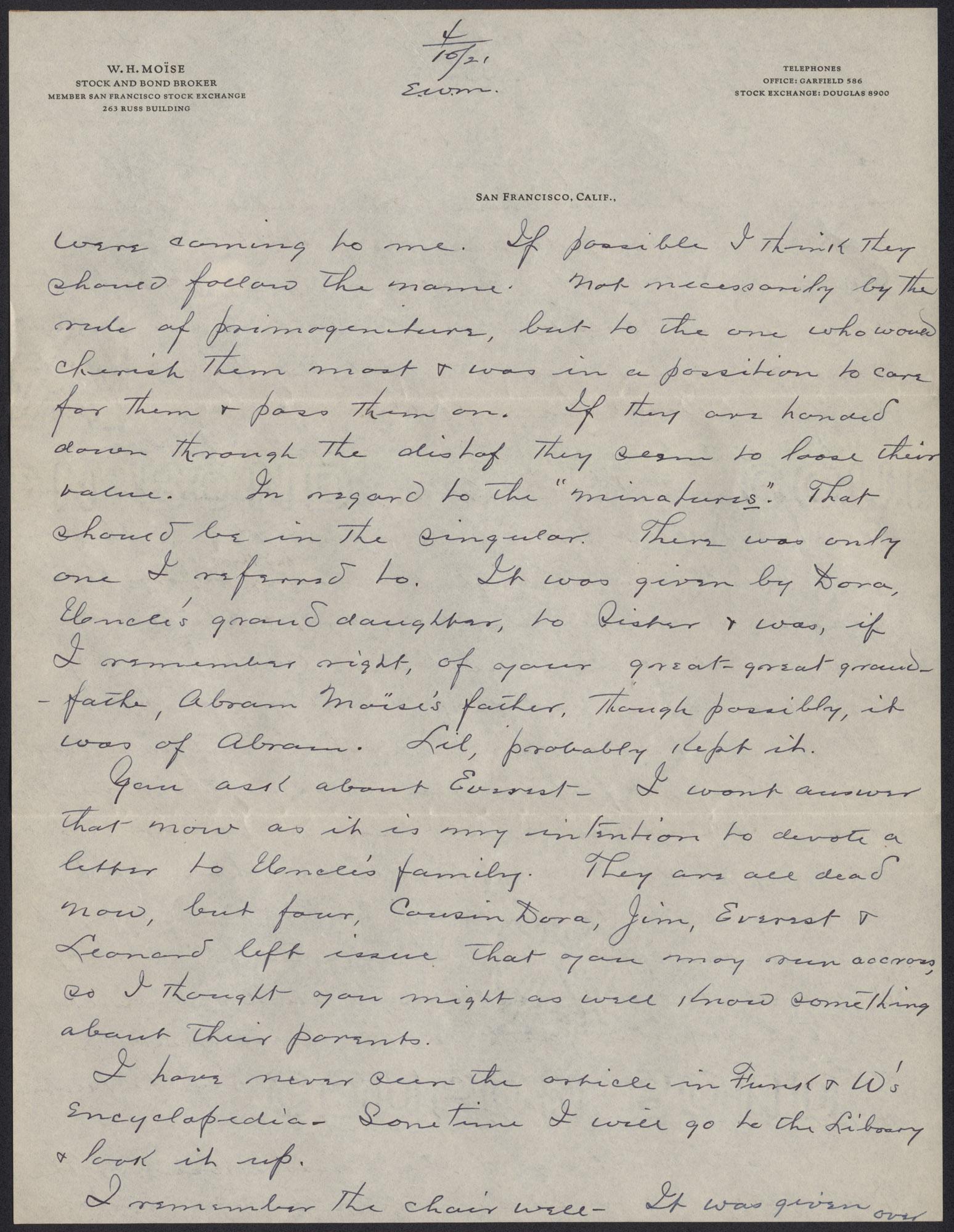 Letters from Warren Hubert Moise to Edwin Warren Moise, Page 7