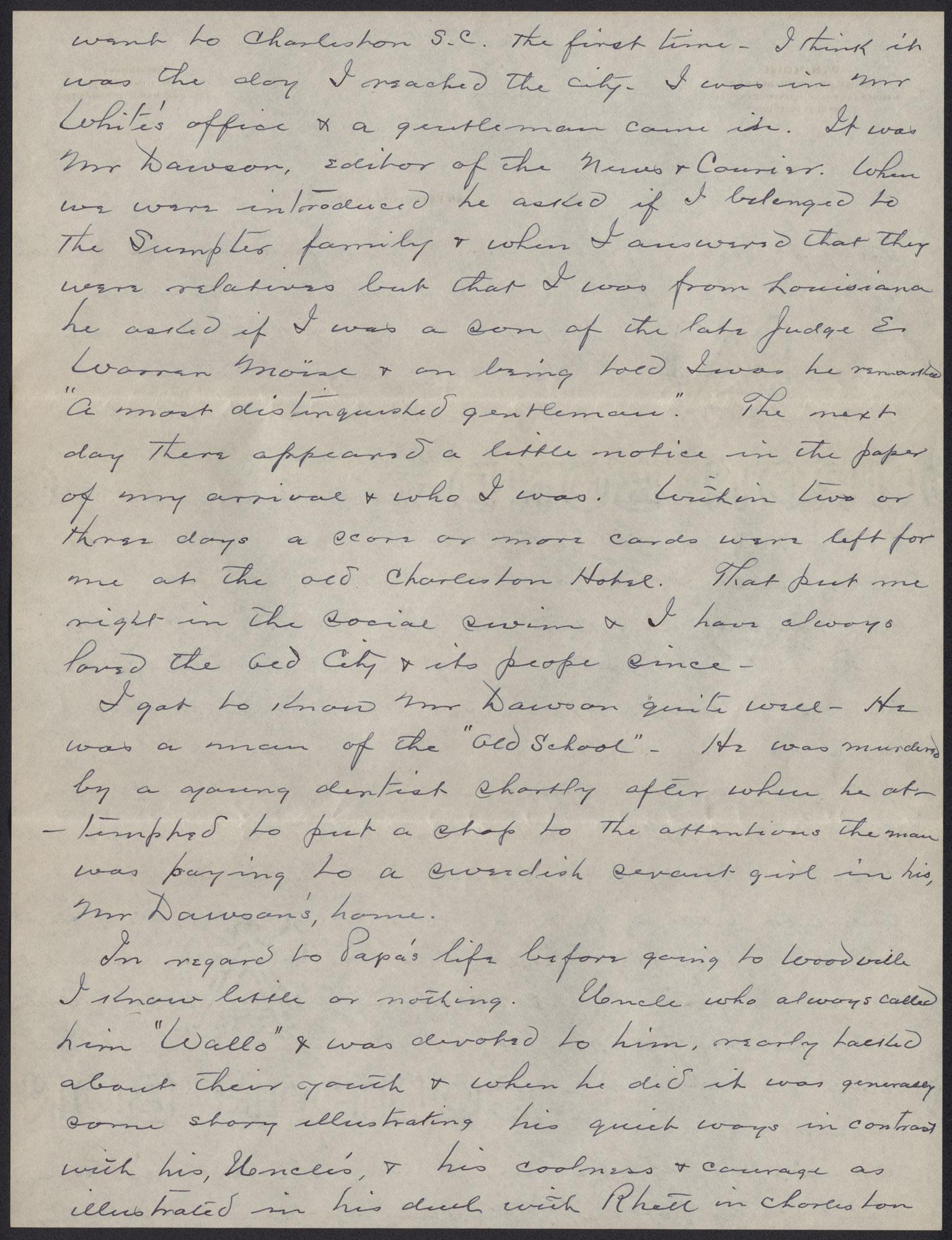 Letters from Warren Hubert Moise to Edwin Warren Moise, Page 12