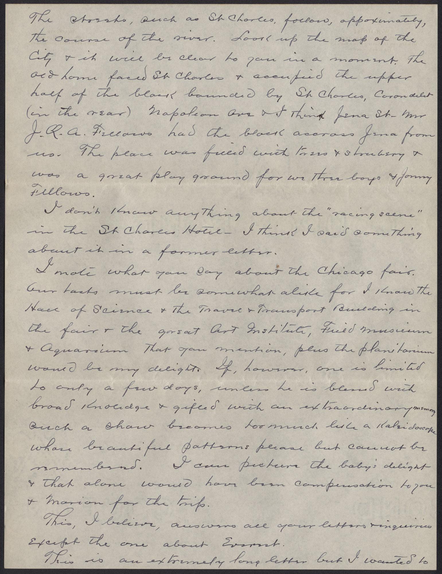 Letters from Warren Hubert Moise to Edwin Warren Moise, Page 14