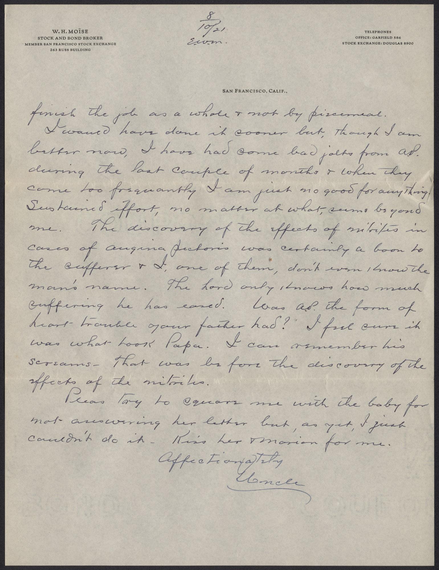Letters from Warren Hubert Moise to Edwin Warren Moise, Page 15