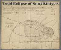 Chart and Calculations of Total Eclipse of the Sun, July 29, 1878
