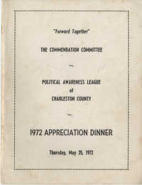 Political Awareness League of Charleston County, 1972 Appreciation Dinner
