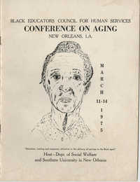 Black Educators Council for Human Services Conference on Aging, March 1975