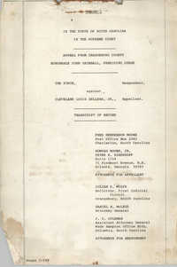 Appeal from Orangeburg County, The State against Cleveland Louis Sellers, Jr., Volume I