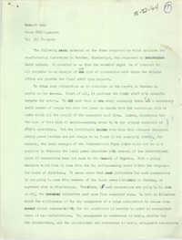 Natchez, Mississippi Research Memorandum and Economic Report