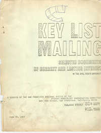 Key List Mailing: Selected Documents of Current and Lasting Interest, June 25, 1967