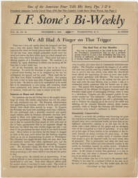 I.F. Stone's Bi-Weekly, Vol. XI, No. 24