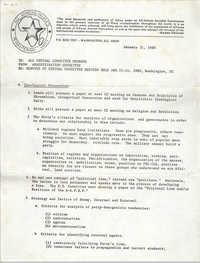 All African People's Revolutionary Party Memorandum, January 31, 1980