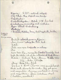 All African People's Revolutionary Party Handwritten Notes