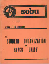 Student Organization for Black Unity Information Brochure