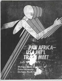 Pan Africa'USA International Track Meet Program