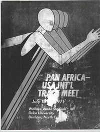 Pan Africa'USA International Track Meet Program