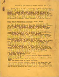 Minutes of the Council of Elders Meeting, May 1, 1970