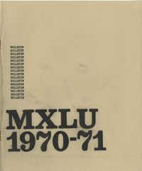 MXLU 1970-71 Bulletin