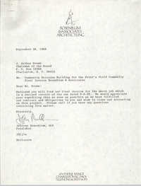 Letter and Invoice from Jeffrey Rosenblum to J. Arthur Brown, September 28, 1982