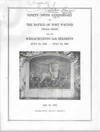 Ninety-Ninth Anniversary of the Battle of Fort Wagner Program