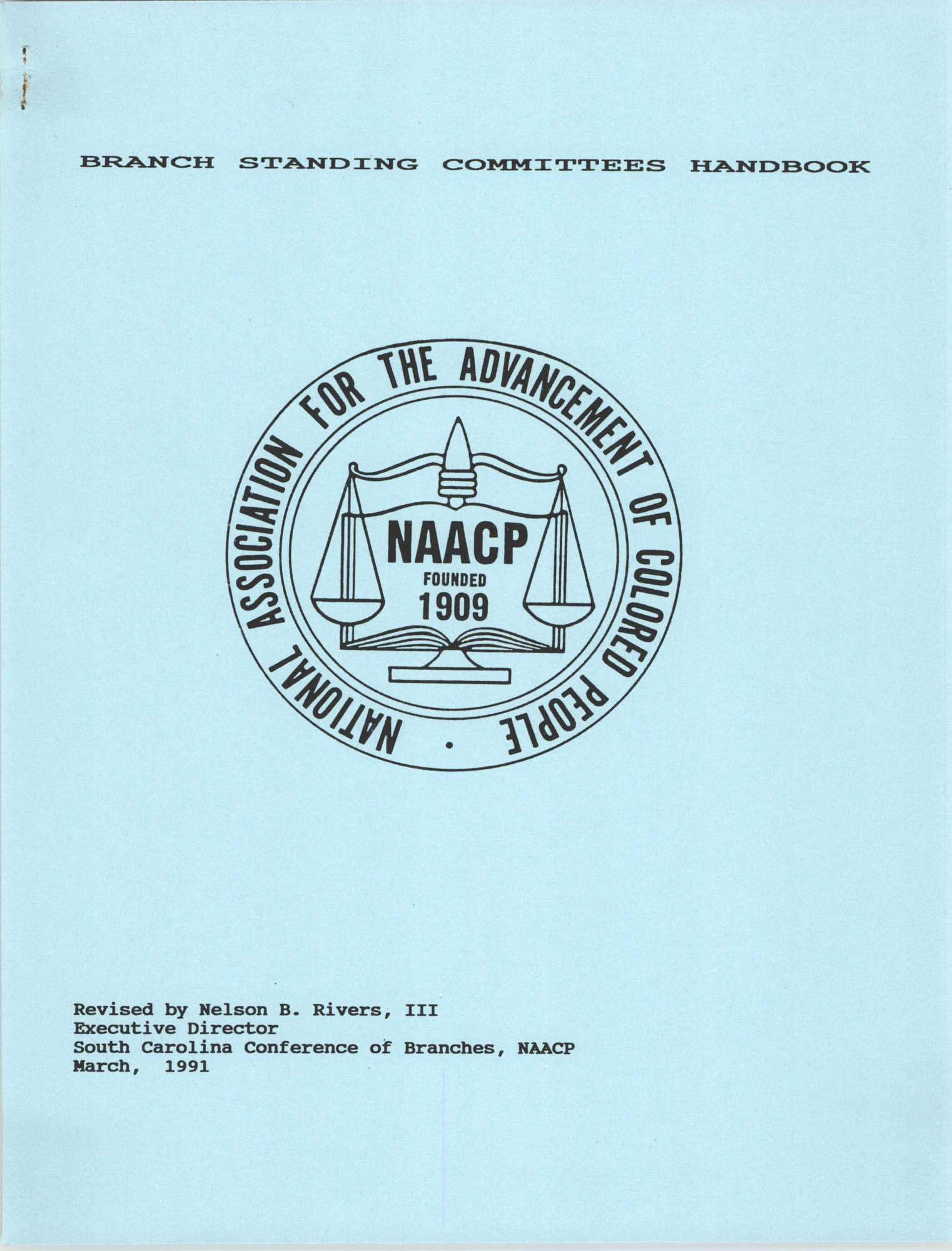 Branch Standing Committees Handbook for the South Carolina Conference of Branches for the NAACP