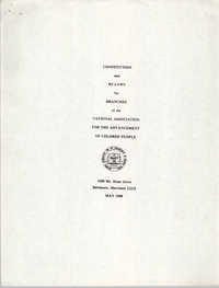Constitution and By-Laws for Branches of the NAACP, May 1988