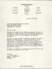 Charleston Chapter of the NAACP Fundraising Letters, February 25, 1989