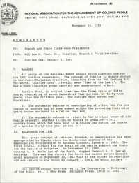 NAACP Memorandum, November 10, 1990