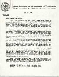 NAACP Memorandum, May 10, 1990
