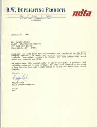 Letter from Kenyon Cook to Dwight James, January 31, 1994