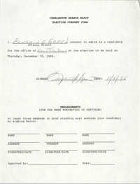 Charleston Branch NAACP Election Consent Forms, December 15, 1988
