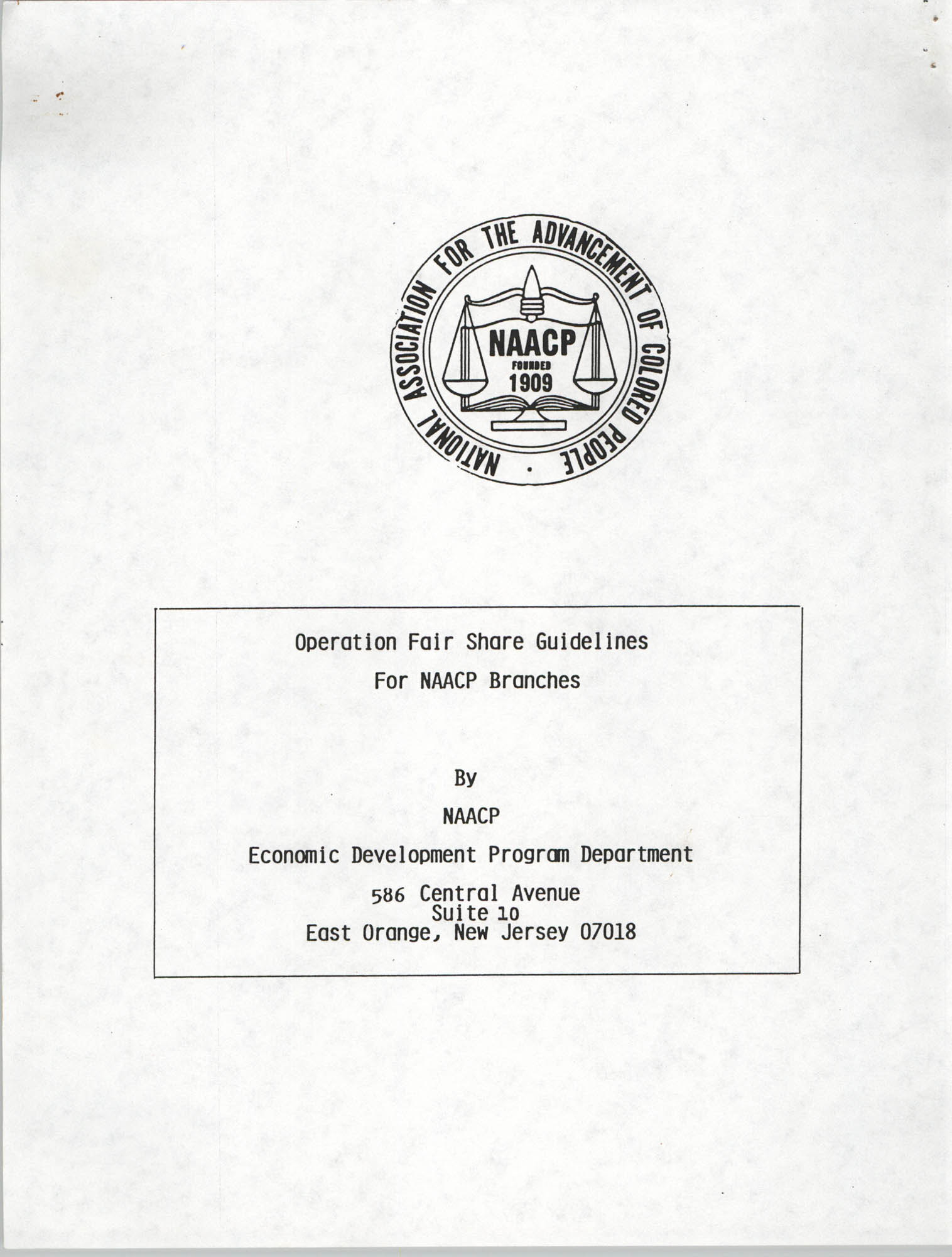 Operation Fair Share Guidelines for NAACP Branches