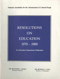 NAACP Resolutions on Education, 1970-1989