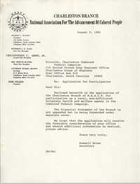 Letter from Russell Brown to Charleston Combined Federal Campaign, Charleston Corps of Engineer, August 9, 1982