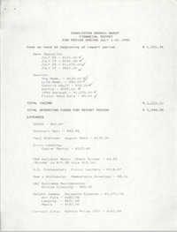 Charleston Branch of the NAACP Financial Report, July 1990