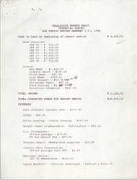 Charleston Branch of the NAACP Financial Report, January 1991