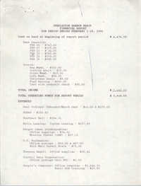 Charleston Branch of the NAACP Financial Report, February 1991