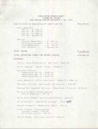 Charleston Branch of the NAACP Financial Report, November 1991