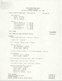Charleston Branch of the NAACP Financial Report, February 1992