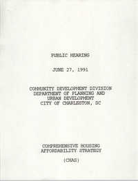 Public Hearing, Community Development Division Department of Planning and Urban Development, June 27, 1991