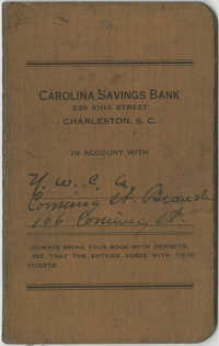 Carolina Savings Bank Account Book for the Y.W.C.A., Coming Street Branch