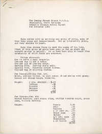 Monthly Report for the Coming Street Y.W.C.A., November 1940