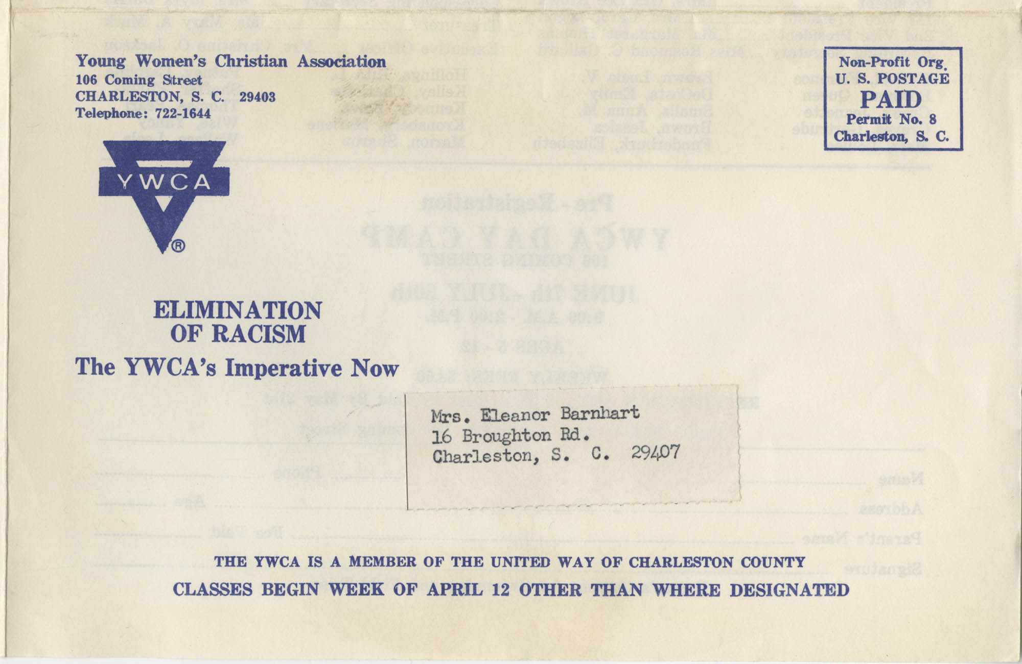 Spring and Summer 1976 Programs, Y.W.C.A. of Greater Charleston