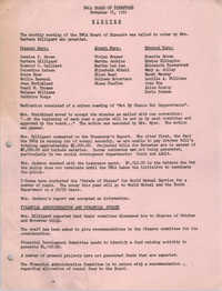 Minutes to the Y.W.C.A. of Greater Charleston Board of Directors Meeting, November 16, 1981