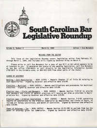 South Carolina Bar Legislative Roundup, Vol. 6 No. 4, March 8, 1984