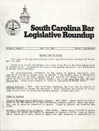 South Carolina Bar Legislative Roundup, Vol. 6 No. 7, April 19, 1984